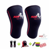 HIGH QUALITY 7 Mm Neoprene Knee Sleeves Crossfit Weight Lifting Powerlifting Fitness Running Knee Brace Caps