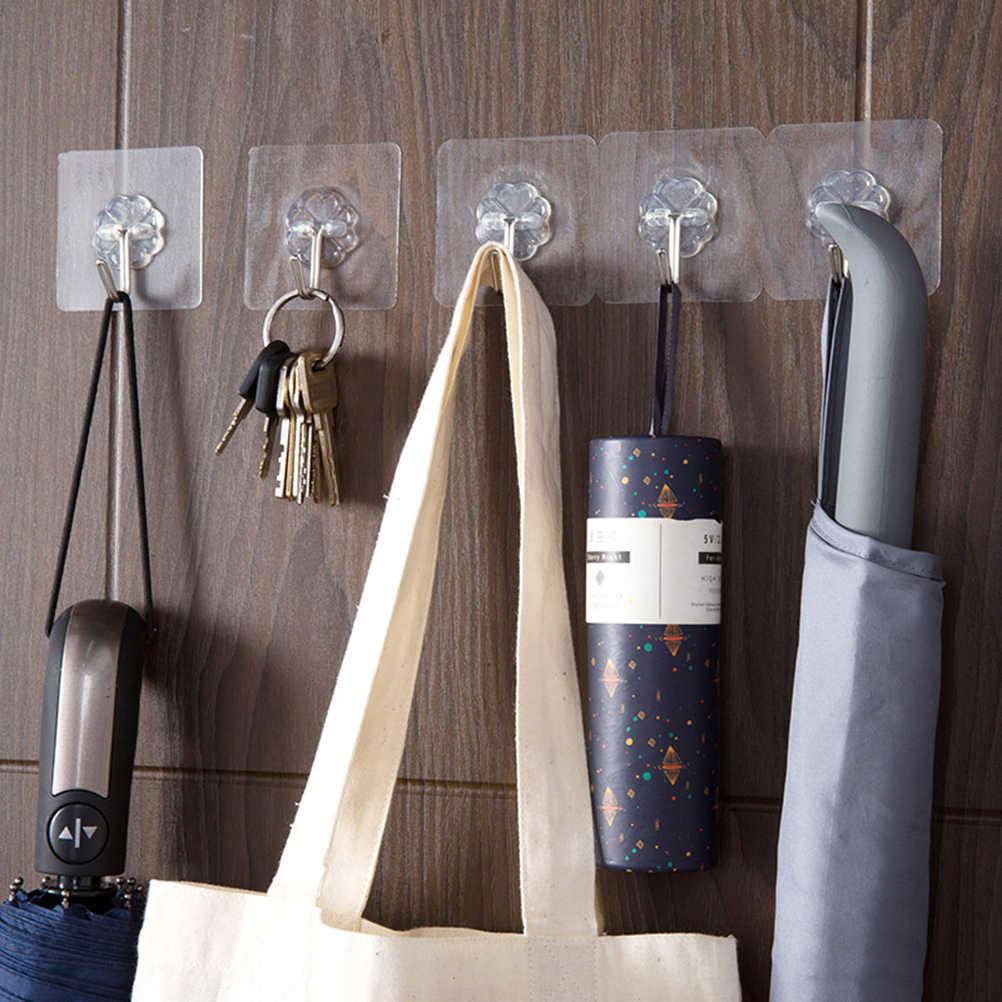 50 шт. вешалки на липучках клейкие крючки для ванной и кухни Настенные Крючки без