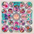130*130 см бренда Twill Шелковый Шарф квадратные шарфы шали echarpes bufandas платки женщины Индейцев