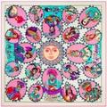 130 * 130cm brand Twill Silk Scarf square scarves shawls echarpes foulard women Indians bufandas