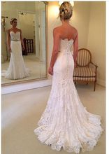 Sweetheart Flare and Fitted A Line Lace Wedding Dress With Crystal Belt Vestidos de Noiva 034