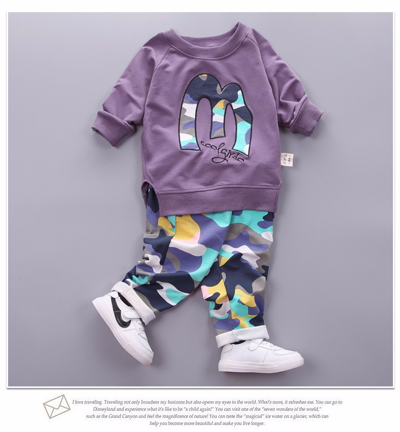Kids Clothes Christmas Boys Girls Clothes Casual Toddler Fleece Sports Camouflage Tops+Pants clothing Sets baby clothing 8
