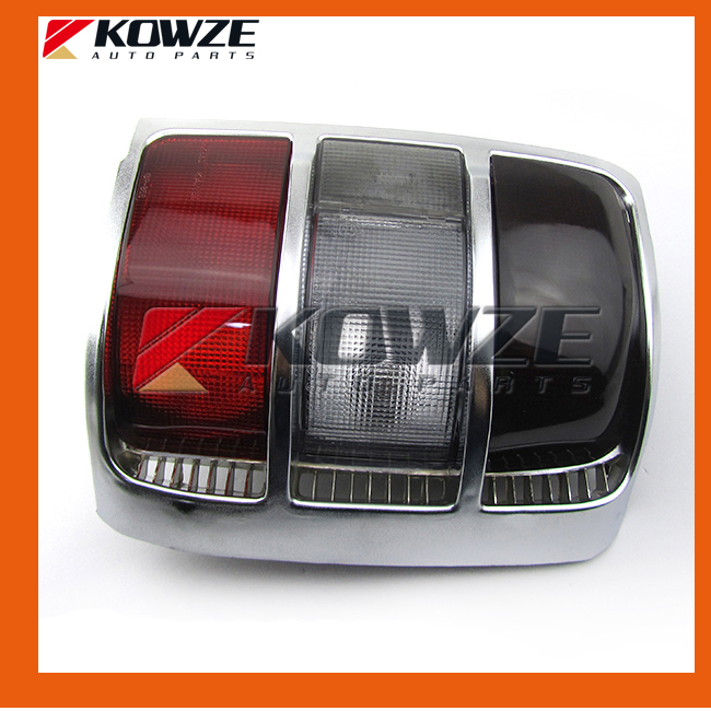 2PCS Silver Tail Rear Combination Lamp Light Wide Frame For Mitsubishi Pajero Montero Shogun 2nd II 1990-2005 MB683991 MB683992 beler left right rear tail light lamp fit for mitsubishi pajero montero 214 1946l ue 214 1946r ue mb124963 mb124964