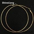 Brincos para as mulheres Por Atacado grande círculo forma boate Exagerada do sexo feminino prata Ouro 70 MM Fio Clássico fronteira Moda