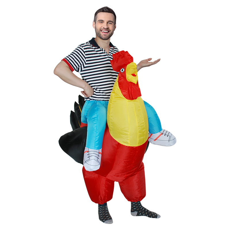 Inflatable Cock Costume Purim Cosplay Fancy Dress Rooster