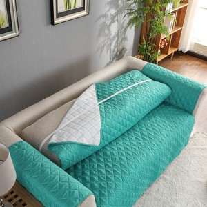Image 2 - 2020 新しいソファカバーキルティングスロースリップカバーソファ家具プロテクターペット可逆洗える脱着式アームレストの slipcovers
