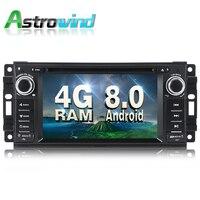 Android 8.0 System 4G RAM Car DVD Player GPS Navigation System Stereo Media Radio for Chrysler Sebring 300C Cirrus Dodge Jeep