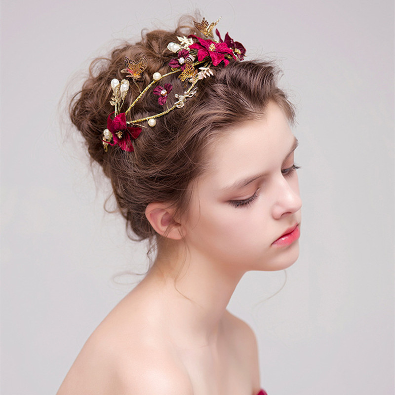 Wedding Hairstyle With Headband: Aliexpress.com : Buy Gold Leaves Butterfly Wedding