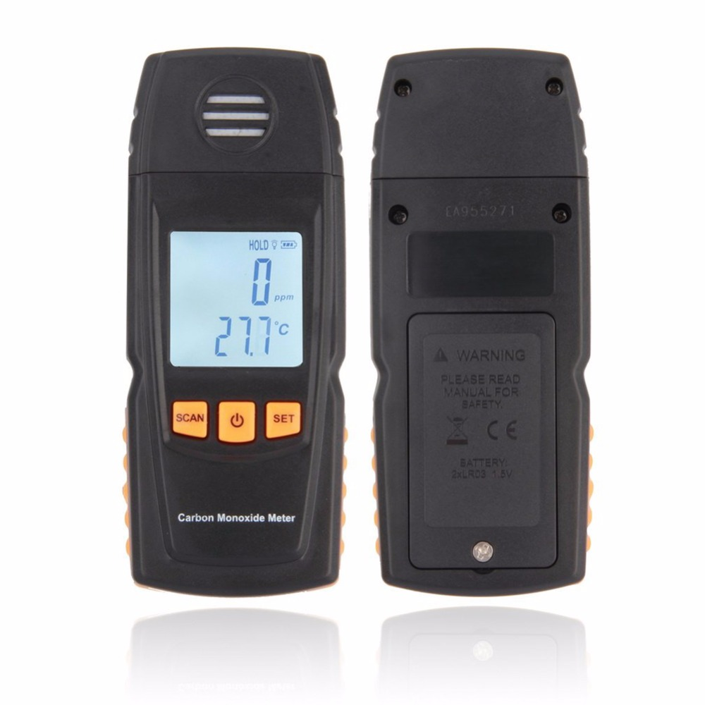 Handheld Carbon Monoxide CO Monitor Detector Meter Tester 0-1000ppm Measuring handheld carbon monoxide meter high precision co gas analyzer tester monitor detector lcd display sound light alarm 0 1000ppm
