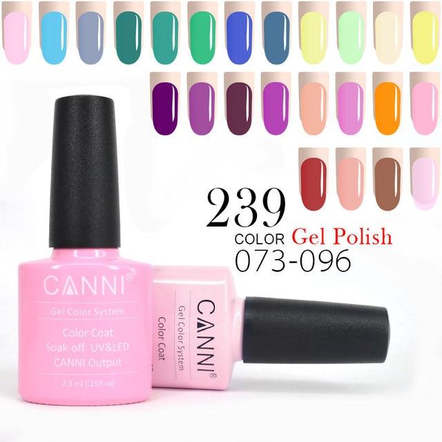 CANNI 7.3ml Gel Lacquer Color 073-096 Hot Sale European High Reputation 30917 Nail Art Soak off UV LED Organic Nail Polish Gel