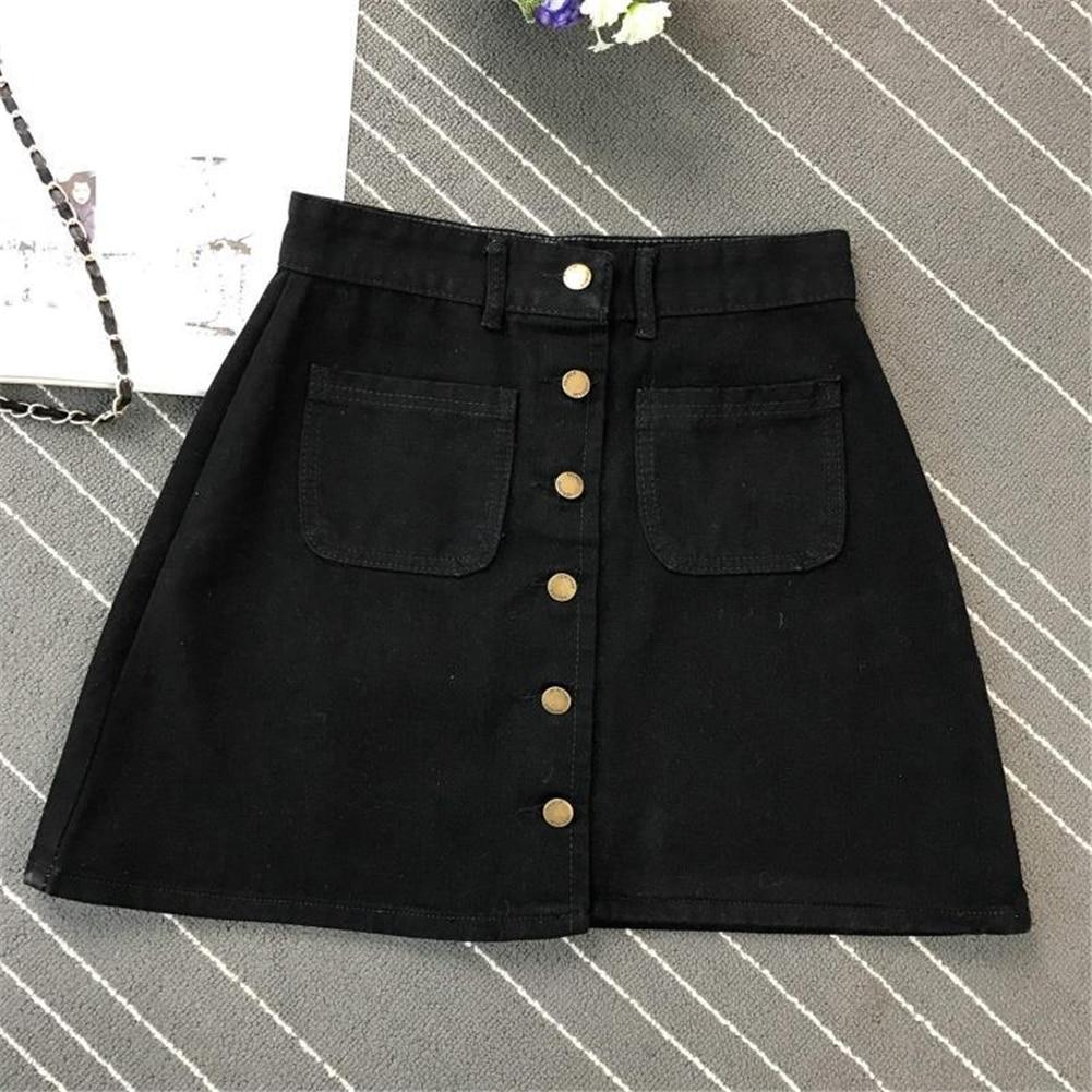 Denim Skirt Spring Summer Women Short A-line Buttom Skirts High Waist Slim Pocket Clothes For Female Causal Summer Women Skirt 17