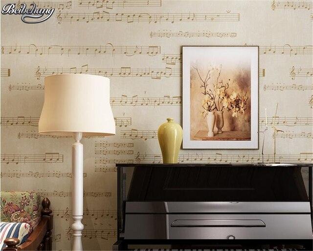 Beibehang Behang Moderne Retro Musik Muster Tapete Wohnzimmer