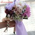 Элегантный Ручной Искусственный Фиолетовый Цветок с Лентой Свадебные Украшения Свадебный Букет Свадебные Цветы Свадебные Букеты Свадебные