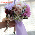 Elegant Handmade Artifical Purple Flower with Ribbon Wedding Decoration Wedding Bouquet Wedding Flowers Bridal Bouquets Bridal