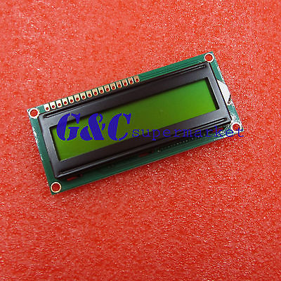 Yellow 1601 16X1 Character LCD Display Module LCM STN SPLC780D / KS0066