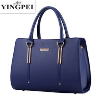YINGPEI Women Messenger Bags Casual Tote Femme Fashion Luxury Women Bags Handbags Designer Pocket High quality Top Handle