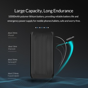 Image 2 - ORICO 10000mAh Ultra Sottile Accumulatori e caricabatterie di riserva Dual USB Esterno Batteria di Grande Capacità Pacchetto del Caricatore Powerbank per il Telefono Mobile Tablet