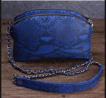 100% genuine python skin women shoulder handbag  2016 Newest fashion women shoulder bag, cross body bag snake skin leather