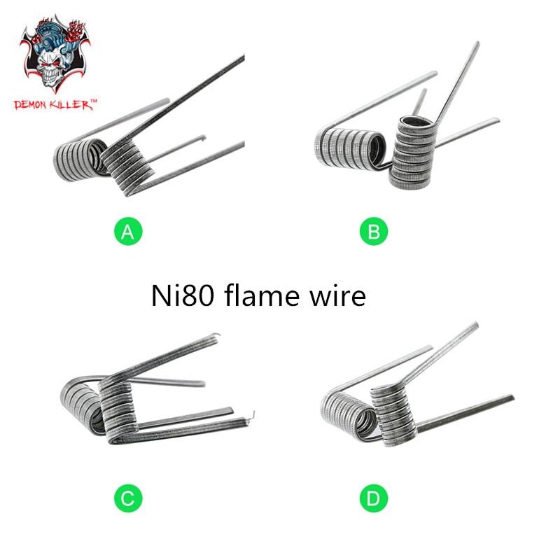 Original Demon Killer Ni80 flame wire Prebuilt Coil for