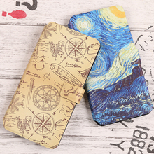 цена на Coque For Huawei Ascend P8 Lite p8lite 2017 P8 p8 Pro Cover Luxury PU Flip Wallet Fundas Painted cartoon Phone Bag Cases Capa