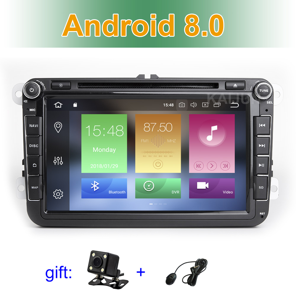 IPS écran Android 8.0 DVD de Voiture Radio Stéréo GPS pour VW Passat CC Golf 5 6 T5 EOS B5 B6 b7 Jetta Touran Tiguan Multivan