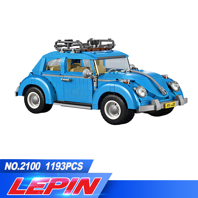 LEPIN 21003 1193Pcs Creator Series City Car Beetle model Building Blocks Compatible legoed 10252 Blue Technic children toy gift 2018 lepin 21003 technic series city car beetle model educational building blocks compatible legoing 10252 toy as children gift