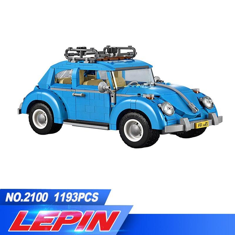LEPIN 21003 1193Pcs Creator Series City Car Beetle model Building Blocks Compatible legoed 10252 Blue Technic children toy gift