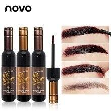 NOVO Brand Red Wine Peel Off Dye Eyebrow Gel Cream 72h Long-lasting Sombrancelha Enhancer Wax Paint Tint My Eye Brows Gel Makeup