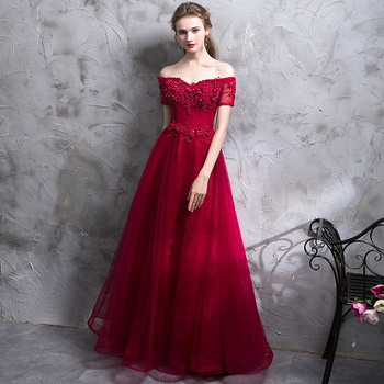 Beauty Emily Burgundy Sexy Satin Evening Dresses 2020 Long A line for Women Formal Evening Gowns Party Prom  Party Dresses