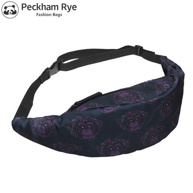 a11b7ac24da9 Cute Monkey pattern waist bag men belt bag Fanny Packs bum 3D ...
