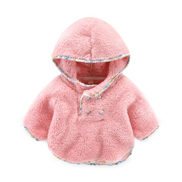 O bebê recém-nascido casaco Capa xales manto coral fleece inverno jaqueta de veludo