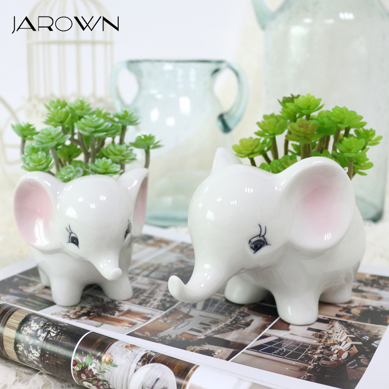 Small Elephant Decor: JAROWN Artificial Small Elephant Succulent Plants Flower