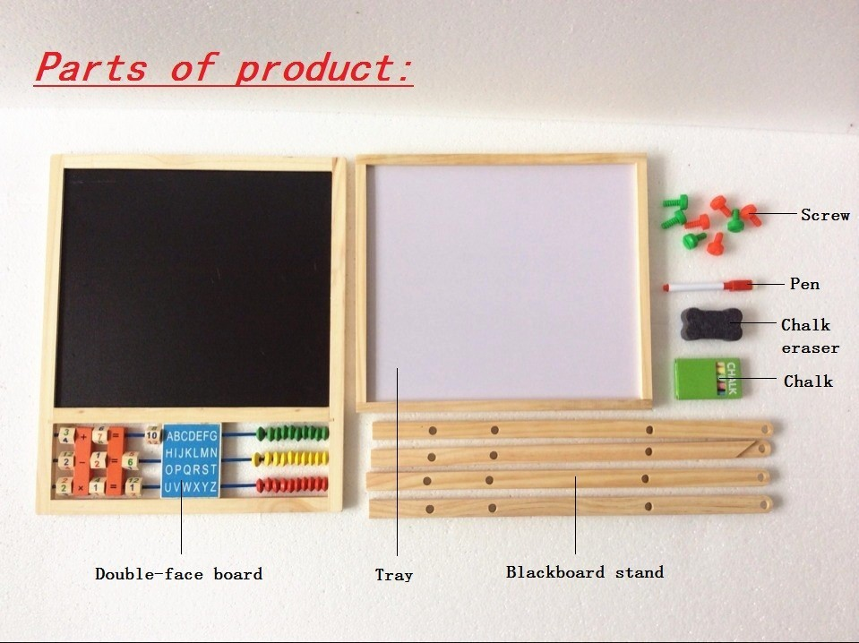 Free Shipping Double Faced Educational Wooden Blackboard Multifuncational Baby Learning Education Drawn Board Drawing Toys Gift in Drawing Toys from Toys Hobbies
