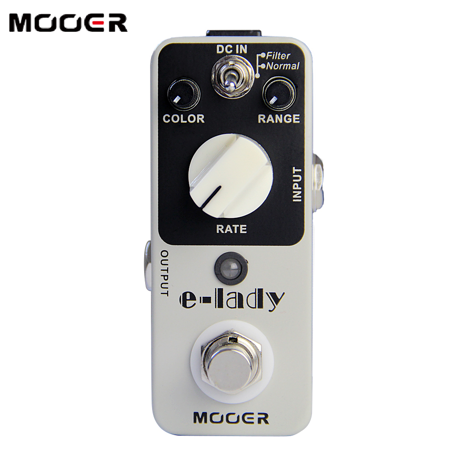 PROMOTION NEW Effect Pedal MOOER E-lady Pedal True bypass Classic analog flanger sound eleclady effect mooer mini classic optical electric compressor effect pedal yellow comp true bypass with smooth attack and decay sound