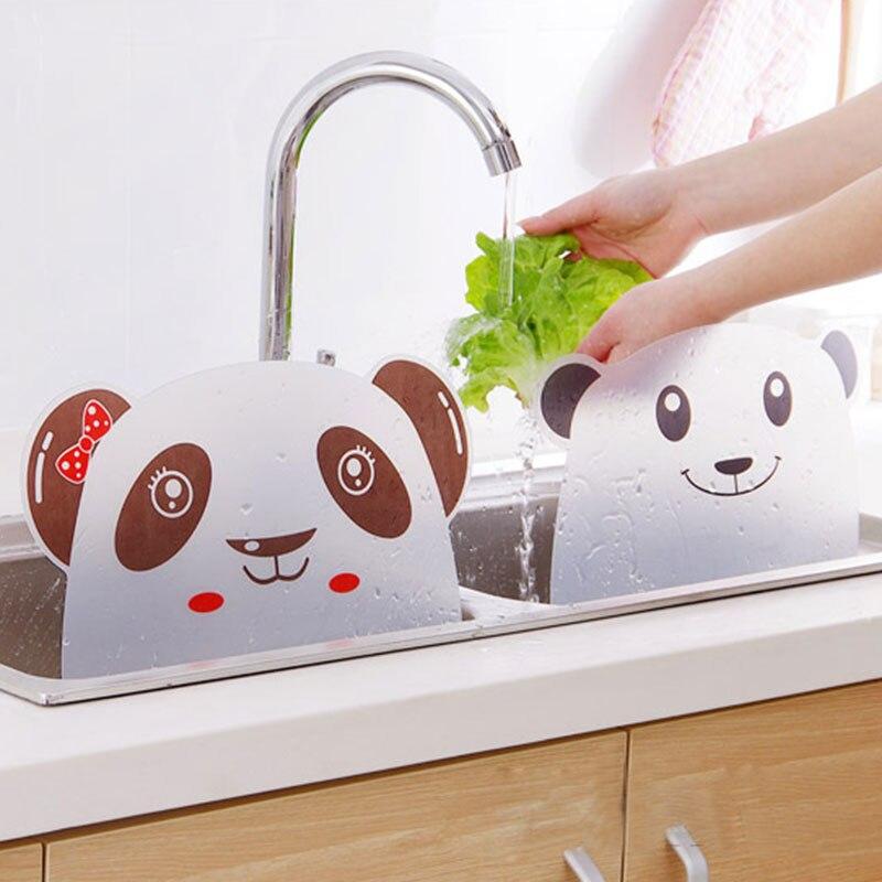 Panda Designed Water Splash Sucker Sink Flap Kitchen Tool Accessiors Wash  Basin