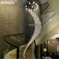 Большая спиральная кристалл потолочный светильник большой люстры де cristal светильник Villa кристалл лампы для Лестница, прихожая, лобби