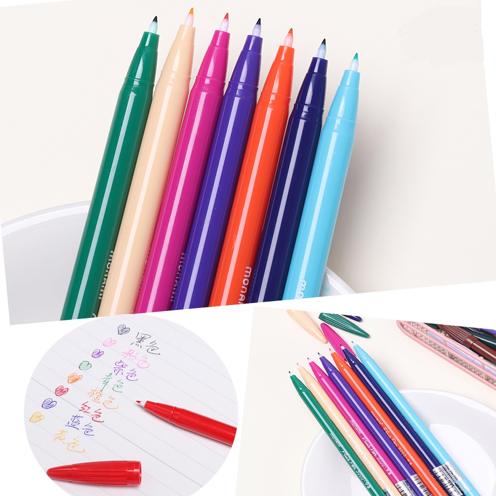 24 Color Gel Pens Monami Plus Pen Korean Stationery Canetas Papelaria Zakka Gift Office Material Escolar School Supplies