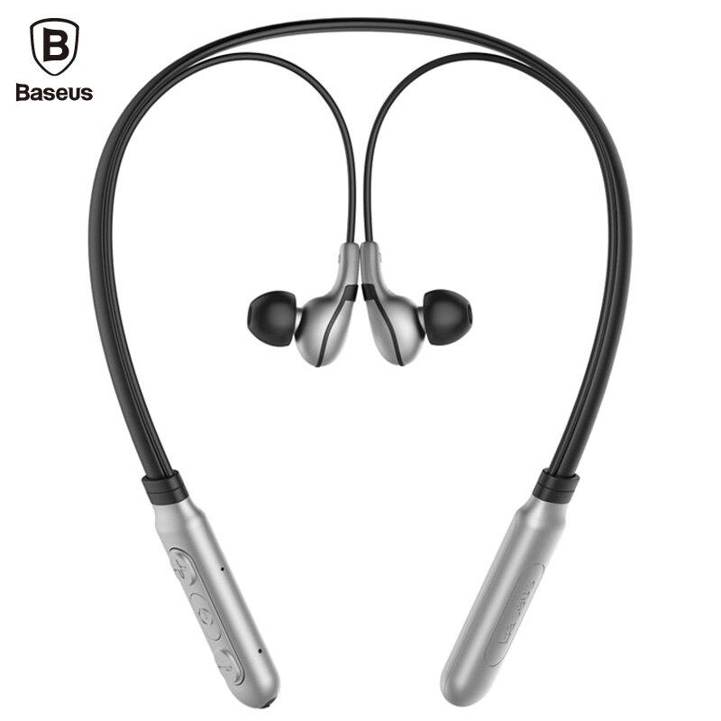 Baseus E16 Neckband Bluetooth Earphone with Mic Wireless Headphones Sport Stereo Auriculares Bluetooth Headset V 4.1 new sport bluetooth earphone headphones with magnet attraction neckband stereo wireless bluetooth headset with mic
