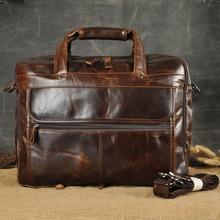 Fashion Men Genuine Leather Handbag High Quality Business Laptop Bag Brand Designer Briefcase Casual Crossbody Shoulder Bolsa