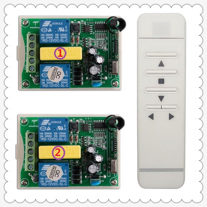 ФОТО AC 220V 433mhz Digital intelligent digital RF wireless remote control switch system for projection screen/garage door/blinds