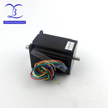 Nema 23 Stepper Motor 76mm Dual Shaft 3A 270oz-in 4 Lead Wire for CNC Router Engraving Milling/3D Printer image