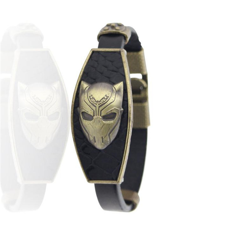 Hot New Movie Black Panther Bracelet The Avengers Cosplay Badge Accessories Black Jewelry Fashion Men Women Bracelet Fans Gift