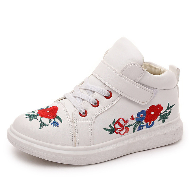 Kids Sneakers Print Flower Black Children Sport Shoes Boys Girls Running Shoes Shop Online Stores