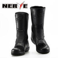 NEW NERVE BIKERS Motorcycle Boots Moto Racing Motocross Off Road Motorbike Shoes Black Size 39/40/41/42/43/44/45 by EMS