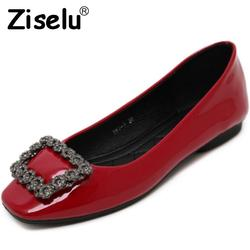 Ziselu 2017 new buckle crystal women ballet flats spring autumn basic pu leather slip on shallow.jpg 250x250