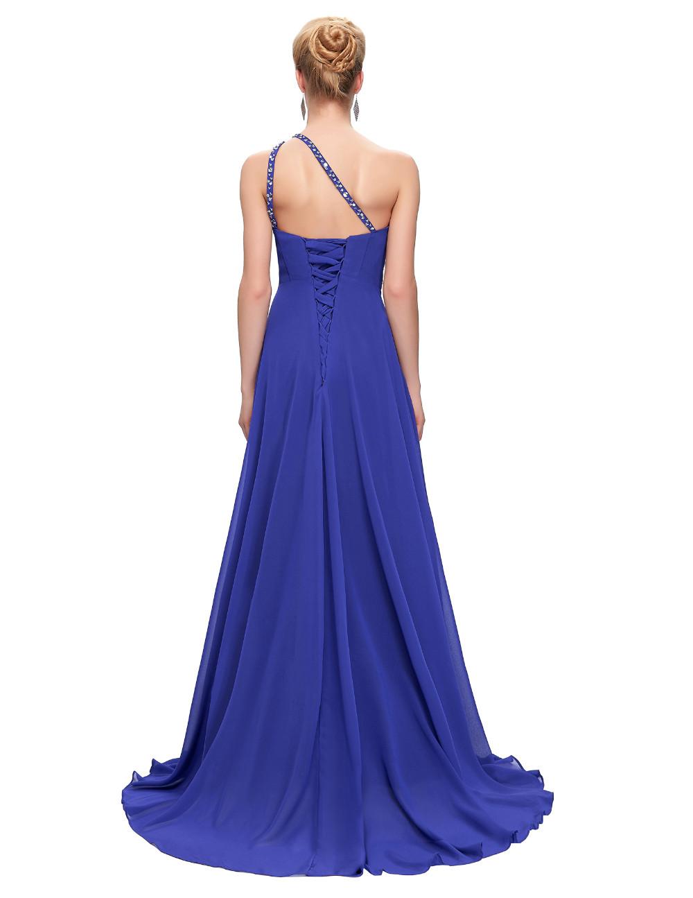 Elegant One Shoulder Long Bridesmaid Dress 8