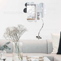 Creative Spring Nature Elegant Blooming Flower Decorative Mirror Wall Stickers 3D Wall Decor Bedroom Living Room Decoration R054