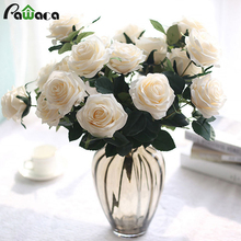10 heads Rose Artificial Flowers Fake Silk Peony Artificial Bouquet Wedding Party Flowers Rose Floral Bouquet Table Daisy Decor