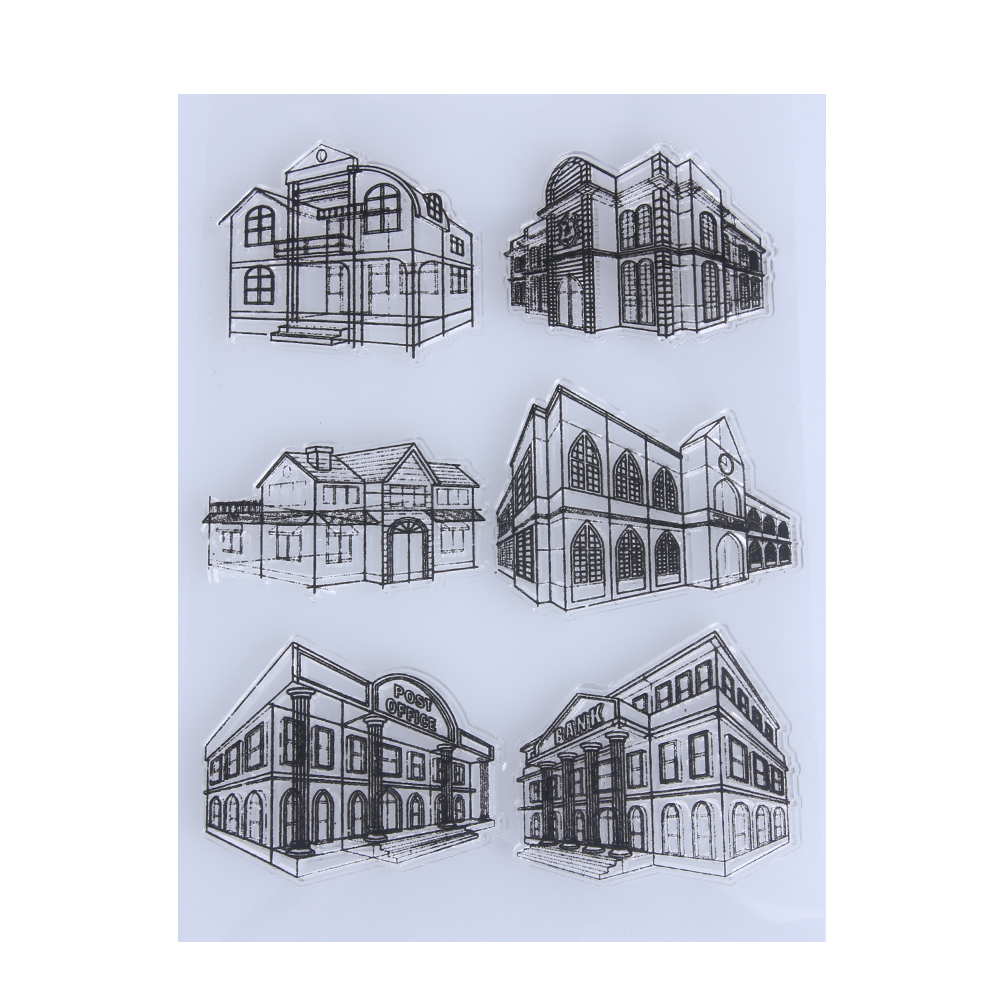 1pcs Clear Stamps For Scrapbooking DIY Silicone Transparent House Shape Stamping Handmade Crafts Stamp Decoration