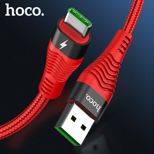 HOCO 5A USB C Cable Supercharge USB Type C Cable For Huawei Mate 20 P30 P20 Pro Lite Fast Charger Cable for Samsung S10 S9